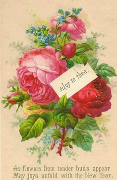 Chateau De Fleurs: Sharing A Couple Sweet Happy New Years Vintage Postcards