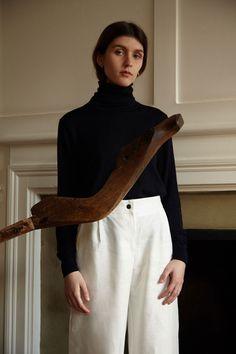 Irish linen MONICA trouser, made in Ireland, by 31 Chapel Lane