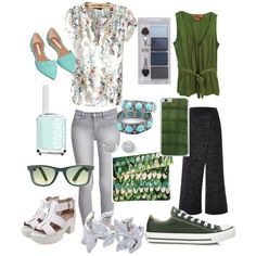 Untitled #23 by megan33ca on Polyvore featuring polyvore, fashion, style, Tory Burch, Forever 21, Converse, Palm Beach Jewelry, Fevrie, Ray-Ban, Valentine Goods, Pieces and Essie