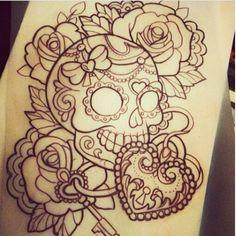 Thigh tattoo idea