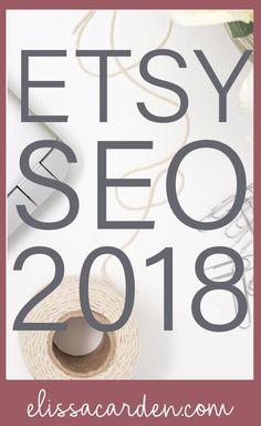 Etsy SEO 2018 + Etsy Shop Strategy + SEO For Etsy Sellers #etsyseller