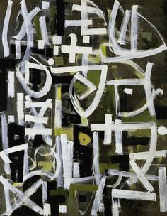 Number 2 (1950) by Bradley Walker Tomlin One of my favorite Abstract Expressionists