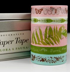 Flora & Fauna Washi Style Paper Tape by Cavallini $16 (5 rolls asst) - WANT!