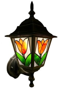 ↔ V, 1 x max outdoor wall lamp is perfect addition to any entrance or backyard. It emits very soft and welcoming light and gives un Stained Glass Suncatchers, Stained Glass Crafts, Stained Glass Lamps, Stained Glass Designs, Stained Glass Panels, Mosaic Glass, Modern Stained Glass, Making Stained Glass, Tiffany Lamp Shade