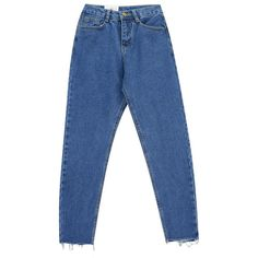 Chicnova Fashion High Rise Cropped Jeans (400 HNL) ❤ liked on Polyvore featuring jeans, blue jeans, cropped denim jeans, high-waisted jeans, denim jeans and regular fit jeans