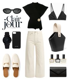 """""""Unbenannt #1010"""" by fashionlandscape ❤ liked on Polyvore featuring Gucci, Brock Collection, Danse Lente, H&M, Calvin Klein, Jacquemus, Balenciaga, Elizabeth and James, Larsson & Jennings and Balmain"""