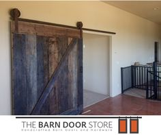 We ❤️ using #reclaimedwood every chance we get!  This Z Brace #barndoor is complemented by vintage rust hardware.  Just what our customers in #RioVerdeAZ ordered!  www.TheBarnDoorStore.com