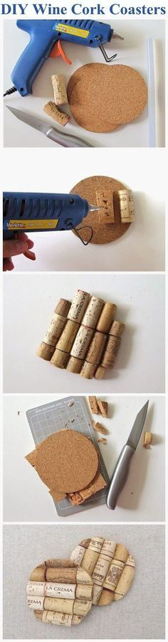 DIY Wine Cork Coasters Pictures, Photos, and Images for Facebook, Tumblr, Pinterest, and Twitter