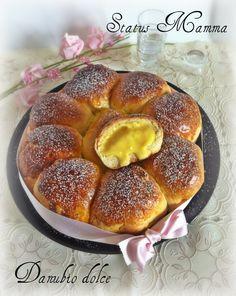 Danubio con crema  ricetta rustica dolce facile cucinare blog status mamma statusmamma  tutorial fotografico
