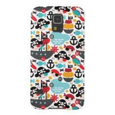Retro pirates illustration sailing galaxy s5 cases