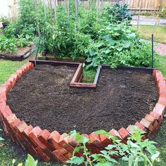 Re-vamped keyhole garden bed at the parents place. Time to start planting  .