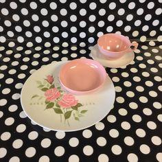 Garden Rose~Lenox Ware~Pink Rose~4 pc~Setting of 4~Melamine~Melmac by RubyJeanRummage on Etsy