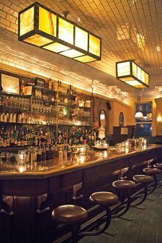 Weather Up Bar. Brooklyn, New York. Designed by American Construction League. Bar Pub, Bar Restaurant, Restaurant Design, Restaurant Lighting, New York Bar, New York City, Best Cocktail Bars, A New York Minute, Pub Design