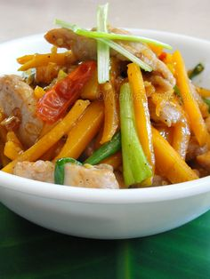 Cambodian Stir-Fried Pork with Squash - who says winter food has to be heavy?
