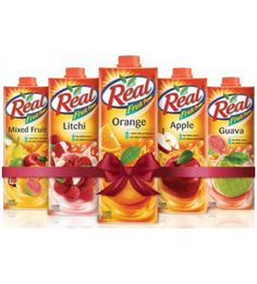 Combo of Real Fruit Juice 1 Ltr x 5
