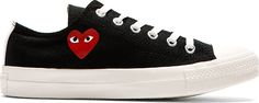 Comme des Garcons Play Black Heart Logo Converse Edition Sneakers