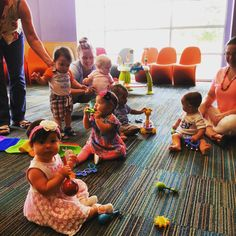 Warning: Cuteness overload! Baby Storytime at McAllen Public Library is a work in progress-- the program has grown from three babies to a group of 12! Look at those cheeks...