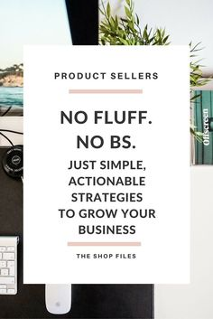 No fluff. No BS. Simple actionable strategies to earn more money, more sales and increase traffic. Take action today - pick 3 of the 21 strategies to start today: build a better foundation, create a strong marketing strategy, improve your shop, and social media tips to focus your efforts.