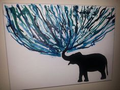 melted crayon art elephant - Google Search