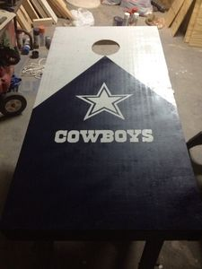 Image of Dallas Cowboys Cornhole Boards