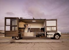 Shipping container food truck — this is so pretty.