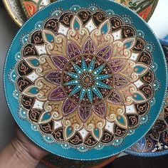 Pottery Designs, Pottery Ideas, Mandela Art, General Crafts, Pottery Painting, Sacred Geometry, Plates On Wall, Home Art, Coloring Books