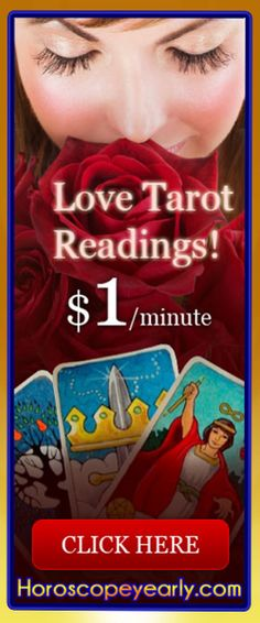 Love tarot readings - Love psychics play a crucial role in how we approach our romantic lives on a daily basis. Whether you're married or currently looking for someone to spend some quality time with, love psychics can use their talents to bring you closer to achieving your overall goal for your romantic life. Instead of aimlessly wandering through life, love psychics help individuals stay on the path toward reaching the ... Learn More: http://www.horoscopeyearly.com/love-tarot-readings/