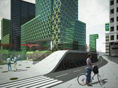 Future of buildings (US) w/ Starbucks & Apple Store