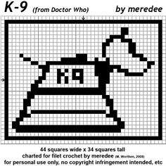 K9 fillet crochet pattern - free