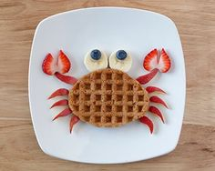 Desayuno para niños Breakfast for children Cute Snacks, Cute Food, Good Food, Yummy Food, Kid Snacks, Fun Snacks For Kids, Party Snacks, Baby Food Recipes, Snack Recipes