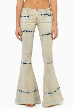 white washed bell bottom jeans