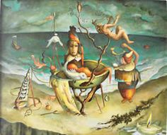 Alexis Preller (1911 – 1975) 54.5 x 44cm, oil on canvas Signed and dated '49
