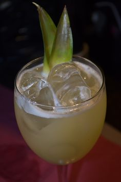 Emigrante - Pisco, Tequila, Lime, Pineapple & ginger syrup.