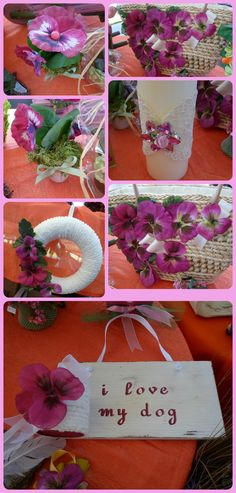 bag, small jar, candle and wreath