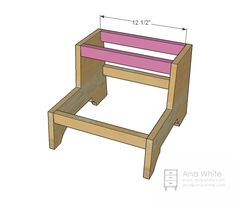 So a printout of this plan got burried on my steel magnet wall for a month or two . Woodworking Bench Plans, Woodworking Projects Diy, Easy Diy Projects, Wood Projects, Pallet Furniture Plans, Kids Furniture, Modern Furniture, Furniture Design, Diy Stool