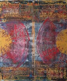 Robert Martin Abstracts. Parallel 39x47x1.5in. In acrylic on canvas. Bali collection #3 by Canadian abstract artist Robert Martin.