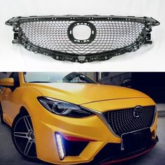 Cool Awesome Mazda 6 2014-2016 VIP Diamond Mesh Black & Chrome Front Hood Bumper Grill 2017 2018