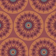 Marsala Medallion By McFee, Jackie  - 15yds, 100% Cotton, 44/45in