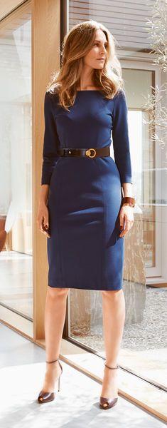 Burda 124 C Workwear, Elegant, Model, Dresses, Fashion, Vestidos, Classy, Moda, Work Wear