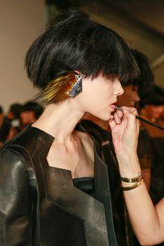 Fendi / Karl Lagerfeld & Silvia Venturini // SS14 / RTW // MFW // Backstage Beauty // Ph: Sonny Vandevelde // Ft: Ruby Jean Wilson