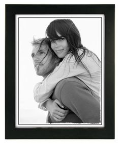8x10 Linear - Black Wood Picture Frame, Set of 2