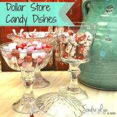 Dollar Store Challenge- Candlestick Candy Dishes!
