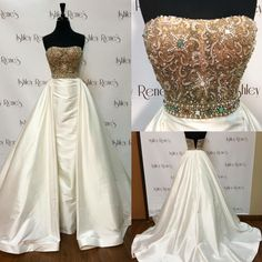 Sherri Hill Couture -- Ivory Pageant Gown -- In Stock Now at Ashley Rene's! This dress can also be custom ordered in any size, color, with many custom options! Contact us today for more information 574 522 7766 or email ashley@ashleyrenesonline.com