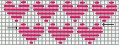 needlepoint heart darning pattern