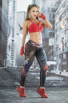 These Harley Quinn Super Hero Leggings from Fiber are great for working out, casual wear or even dressing up for Halloween. You will love these exclusive leggings that are made from the highest qualit