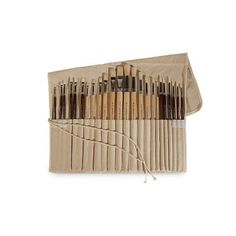 Enhance your art by supply essential with these Art Advantage Oil and Acrylic Paint Brush. This kit contains 24 Piece of paint brush featured with 24 long handle brushes that can be used for both oil and acrylic paints. The brushes made of synthetic and natural bristle with a comfortable handle.  #GiftIdeasForHer #UnusualGiftsForHer #GiftsForWomen #UniqueGiftsIdeas #CoolGiftsIdeas #UniqueChristmasGifts