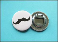 Schlüsselanhänger - Flaschenöffner Moustache Schnauzer Schnauzbart - ein Designerstück von arten-vielfalt bei DaWanda