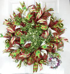 Deco DELUXE malla Navidad guirnalda para por SouthernCharmWreaths
