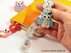"""Crochet instruction - Bookmark owl """"Minchen"""" gift idea not a free pattern Crochet Owls, Crochet Gifts, Cute Crochet, Crochet Flamingo, Half Double Crochet, Single Crochet, Knitting Patterns, Crochet Patterns, Crochet Patron"""