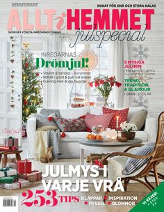 Coverphoto with christmas lights by Markslöjd. Magazine: Allt i Hemmet.
